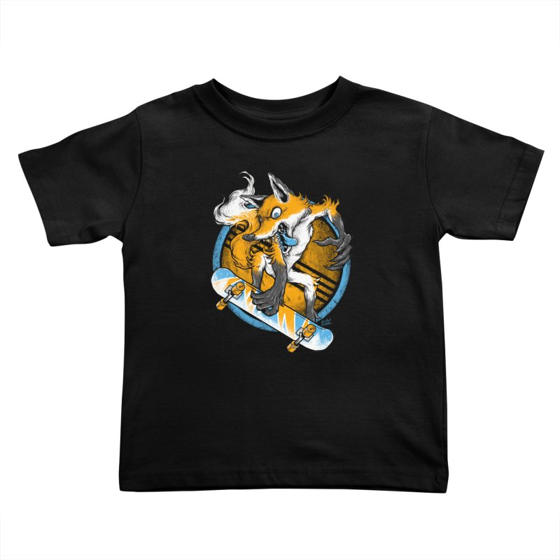 Foxy Skater Kids Toddler T-Shirt by Wicked Oddities