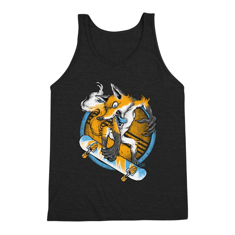 Foxy Skater Men's Triblend Tank by Wicked Oddities