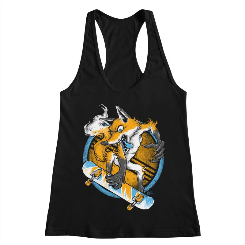 Foxy Skater Women's Racerback Tank by Wicked Oddities