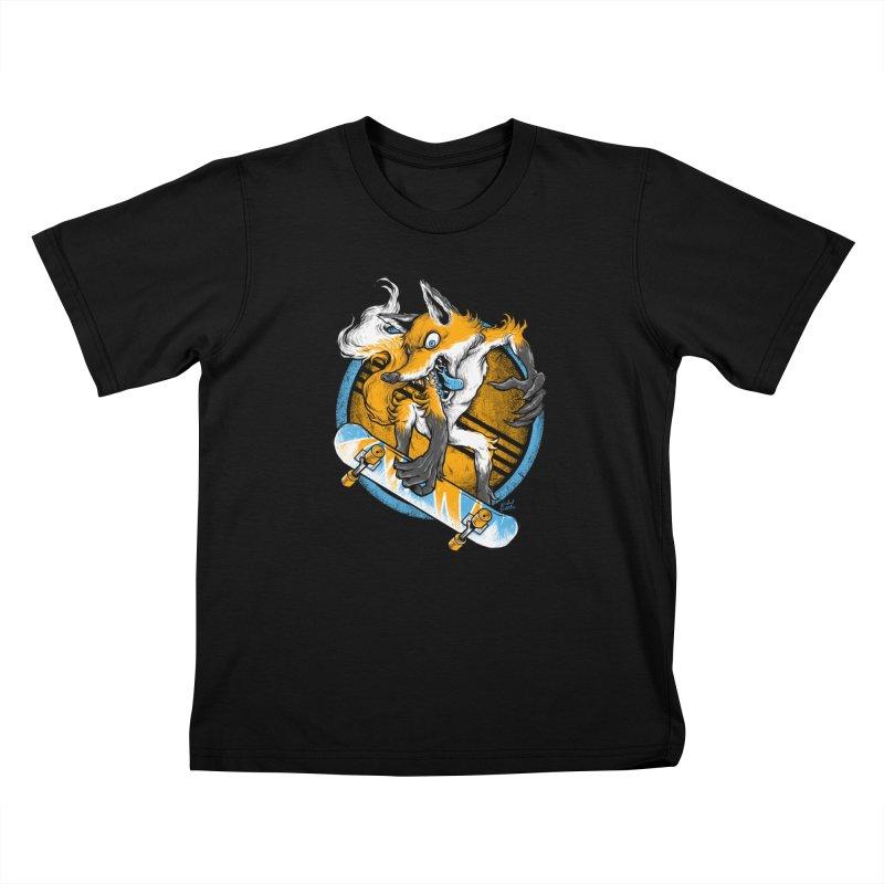 Foxy Skater Kids T-Shirt by Wicked Oddities
