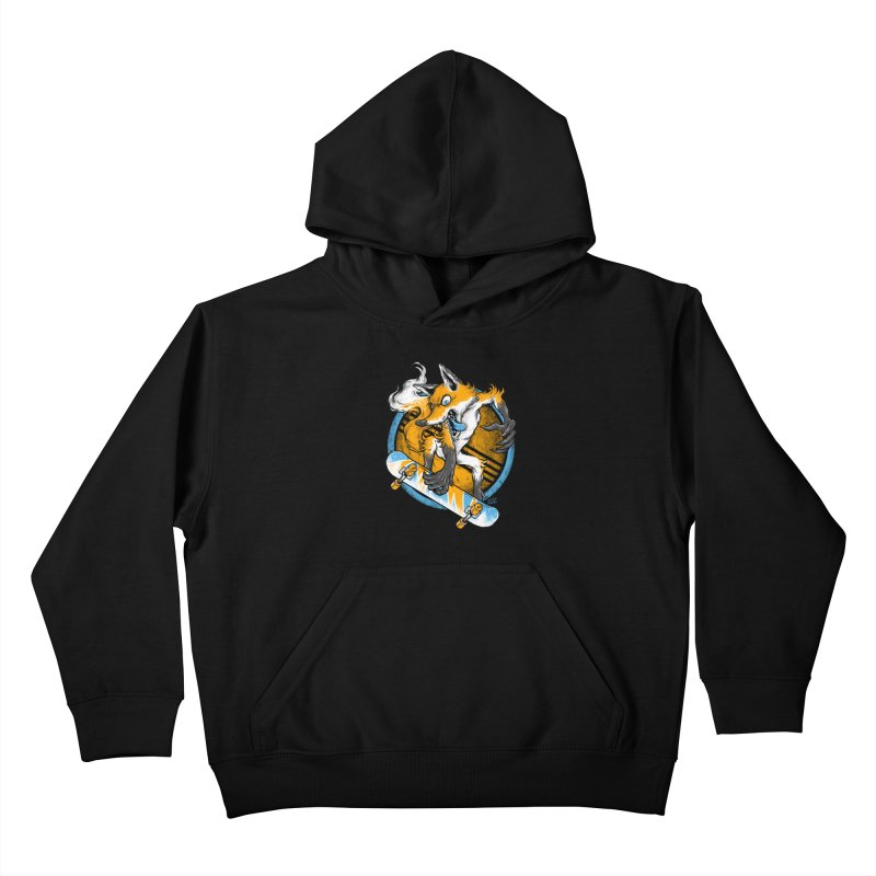 Foxy Skater Kids Pullover Hoody by Wicked Oddities