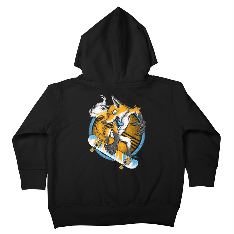 Foxy Skater Kids Toddler Zip-Up Hoody by Wicked Oddities