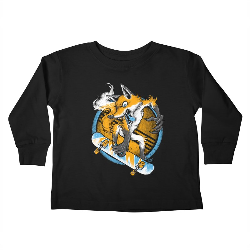 Foxy Skater Kids Toddler Longsleeve T-Shirt by Wicked Oddities