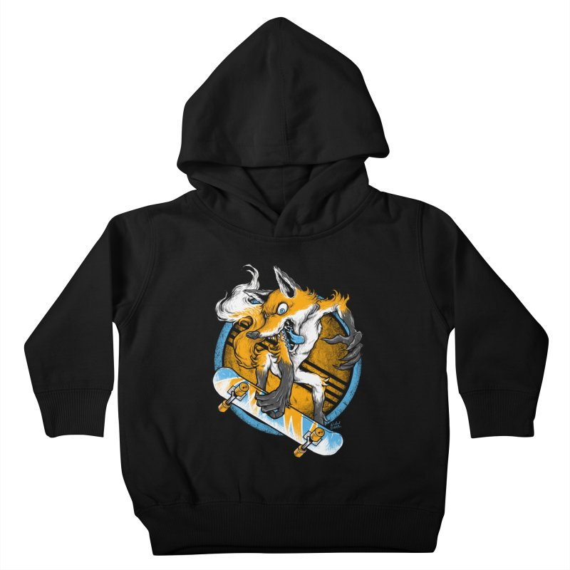 Foxy Skater Kids Toddler Pullover Hoody by Wicked Oddities