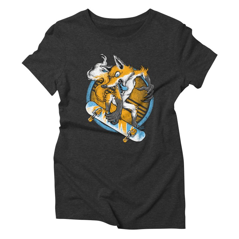 Foxy Skater Women's Triblend T-Shirt by Wicked Oddities