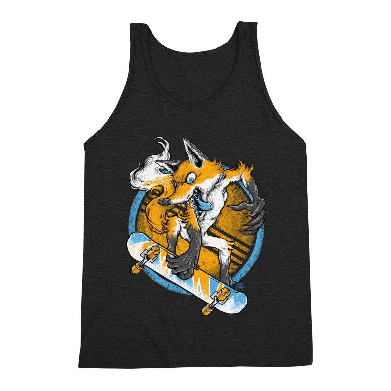 Foxy Skater Men's Triblend Tank by Wicked Oddities