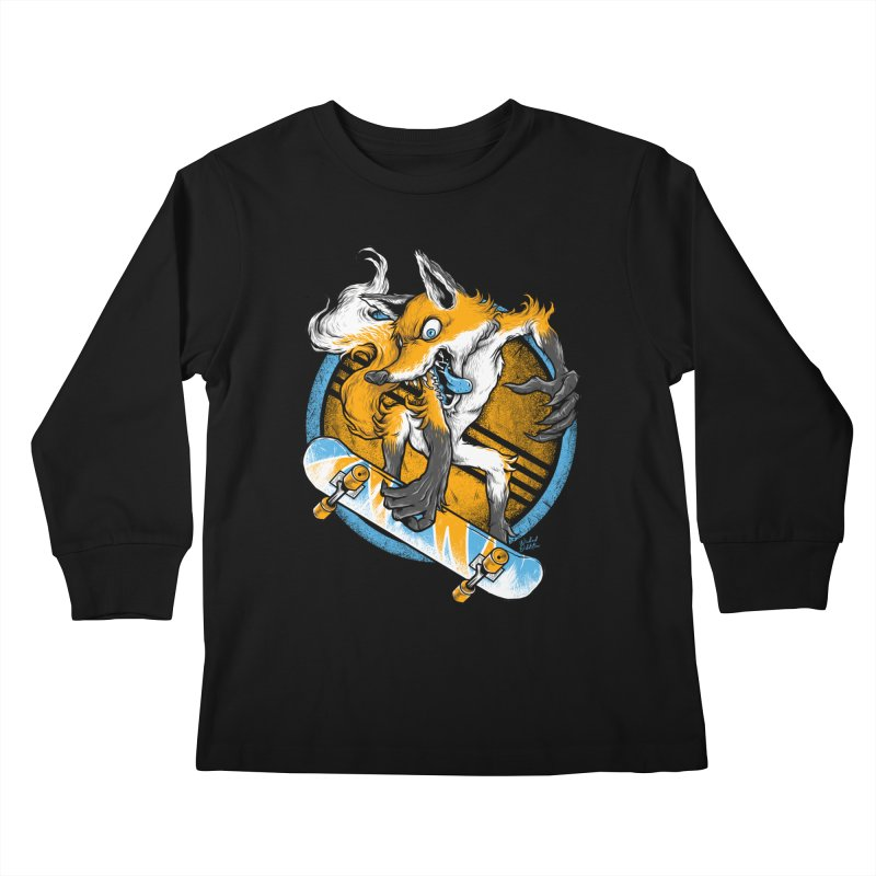 Foxy Skater Kids Longsleeve T-Shirt by Wicked Oddities
