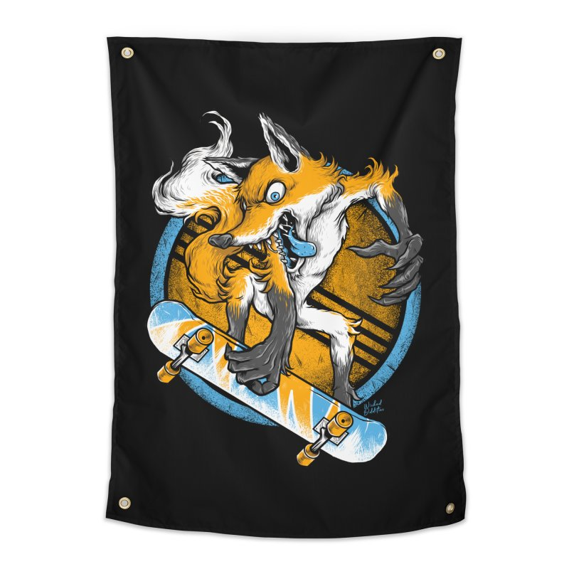 Foxy Skater Home Tapestry by Wicked Oddities