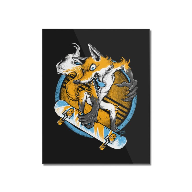 Foxy Skater Home Mounted Acrylic Print by Wicked Oddities