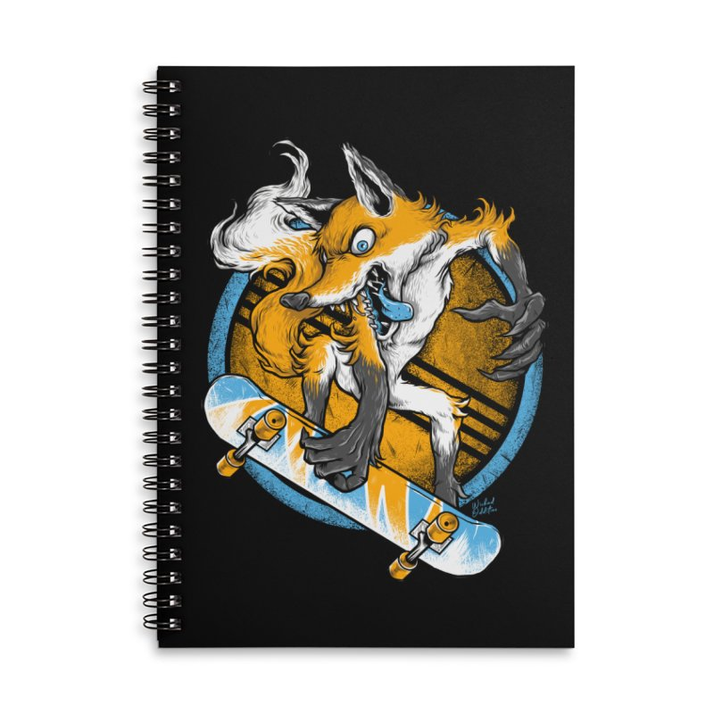 Foxy Skater Accessories Lined Spiral Notebook by Wicked Oddities
