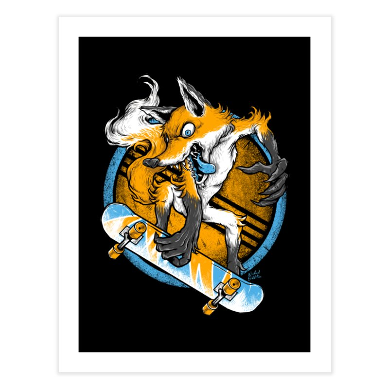 Foxy Skater Home Fine Art Print by Wicked Oddities