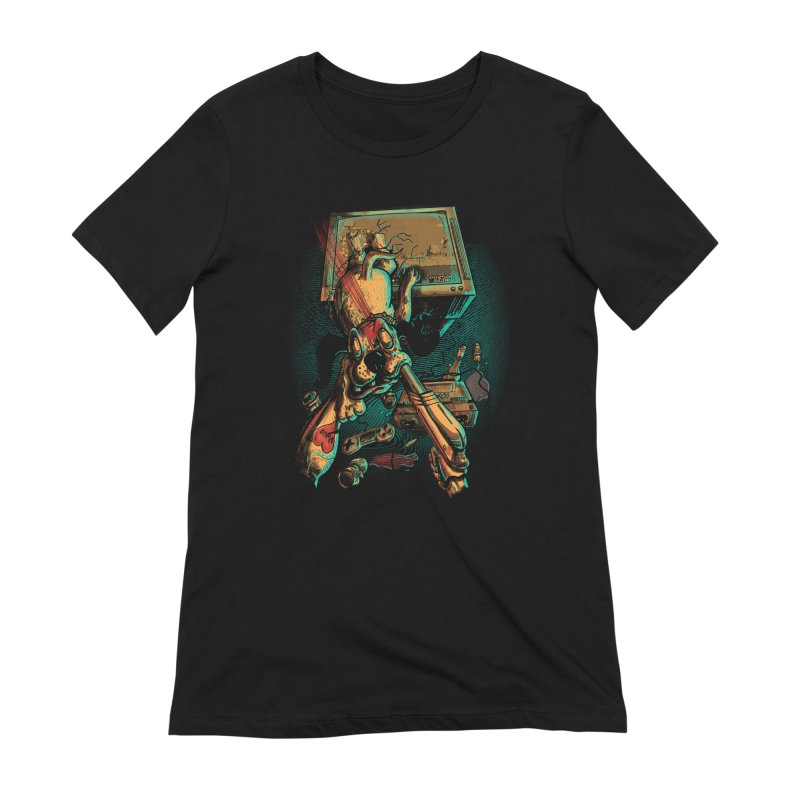 Dog Hunt Women's Extra Soft T-Shirt by Wicked Oddities