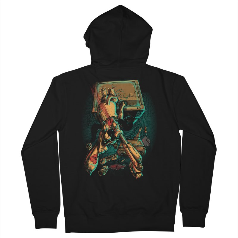 Dog Hunt Men's French Terry Zip-Up Hoody by Wicked Oddities