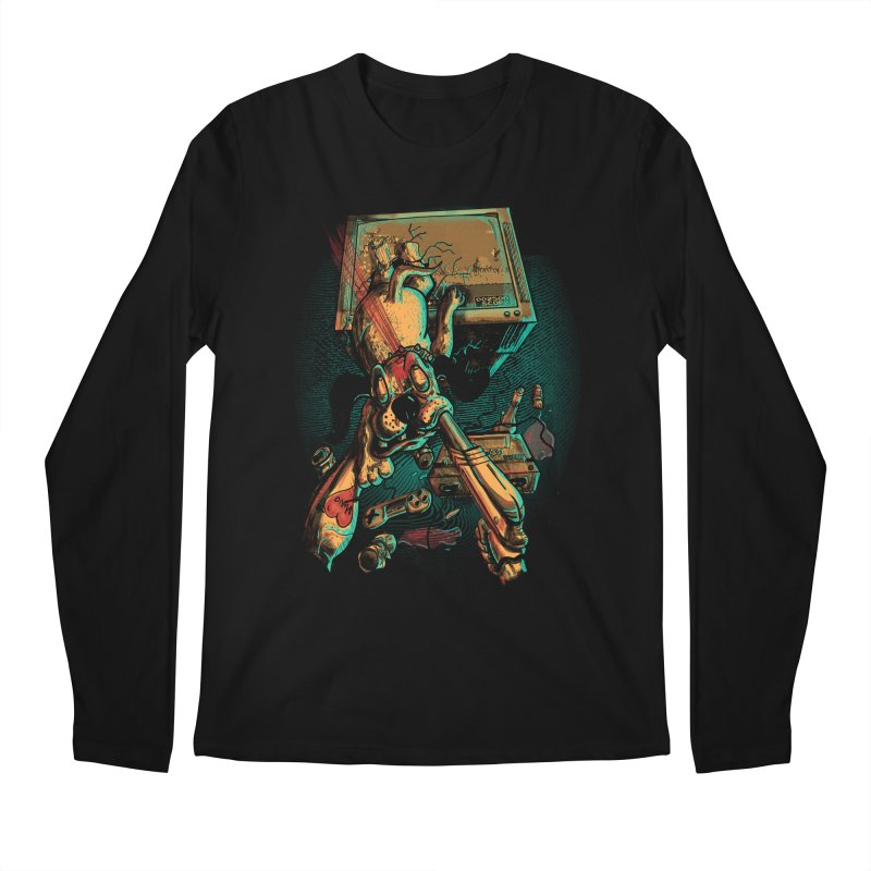 Dog Hunt Men's Regular Longsleeve T-Shirt by Wicked Oddities