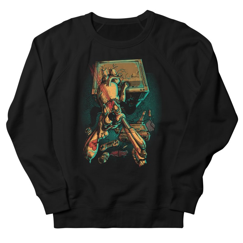 Dog Hunt Women's French Terry Sweatshirt by Wicked Oddities