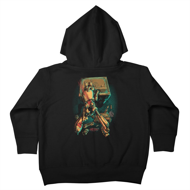 Dog Hunt Kids Toddler Zip-Up Hoody by Wicked Oddities