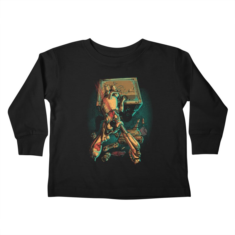 Dog Hunt Kids Toddler Longsleeve T-Shirt by Wicked Oddities
