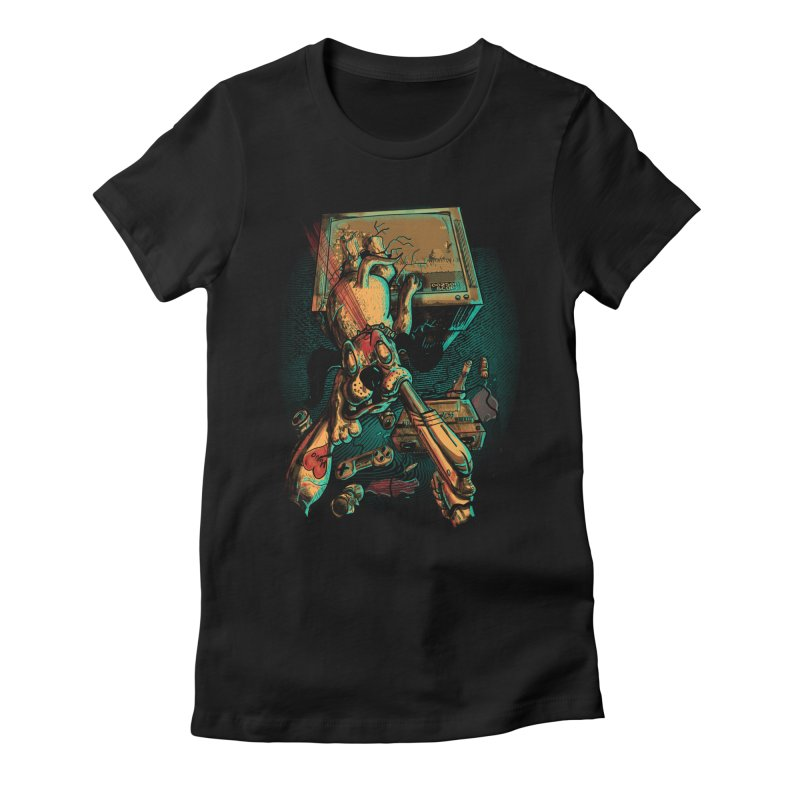 Dog Hunt Women's Fitted T-Shirt by Wicked Oddities