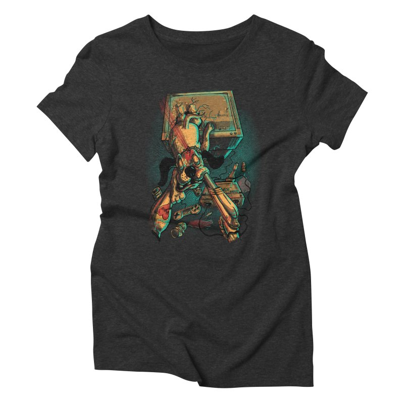 Dog Hunt Women's Triblend T-Shirt by Wicked Oddities