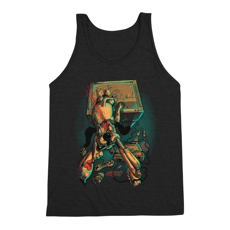 Dog Hunt Men's Triblend Tank by Wicked Oddities