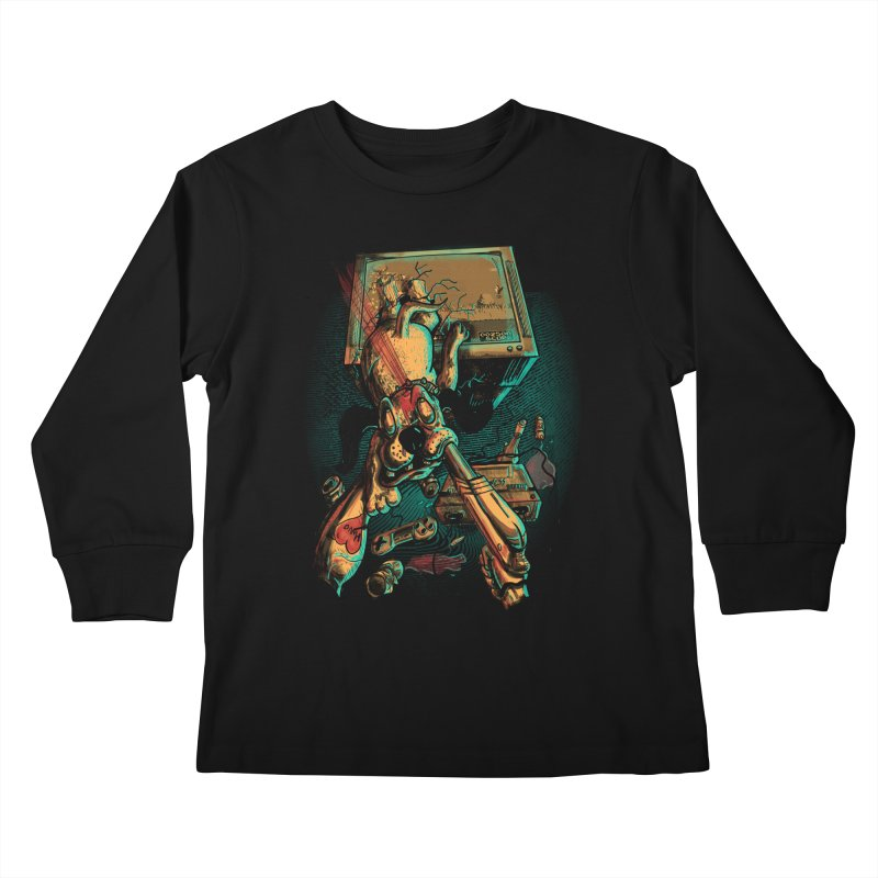 Dog Hunt Kids Longsleeve T-Shirt by Wicked Oddities