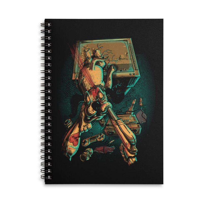Dog Hunt Accessories Lined Spiral Notebook by Wicked Oddities
