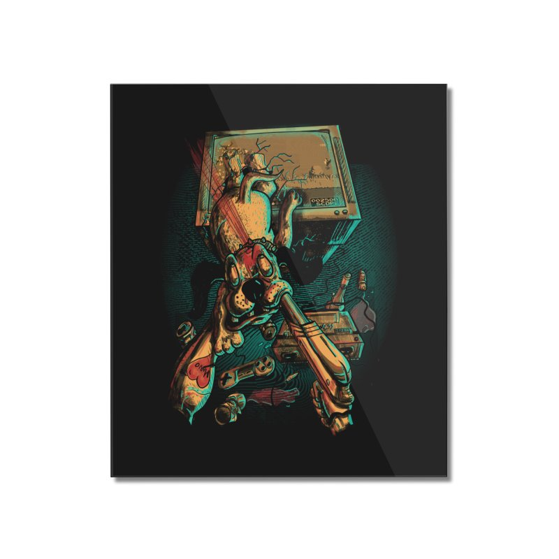 Dog Hunt Home Mounted Acrylic Print by Wicked Oddities