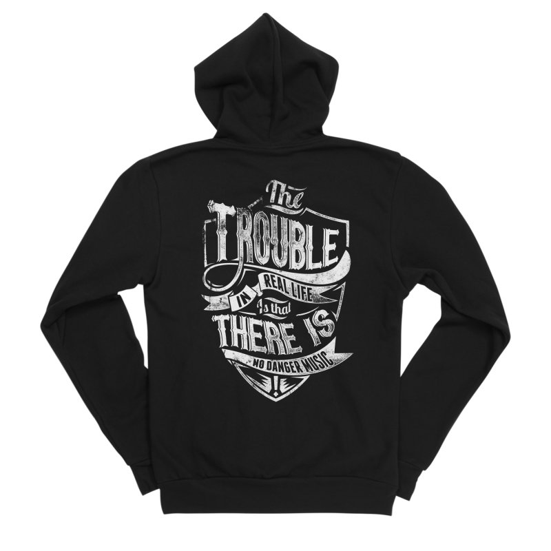 Danger Music Men's Sponge Fleece Zip-Up Hoody by Wicked Oddities