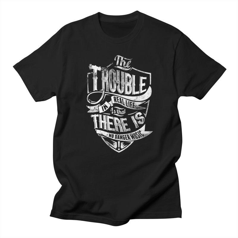 Danger Music Men's T-Shirt by Wicked Oddities