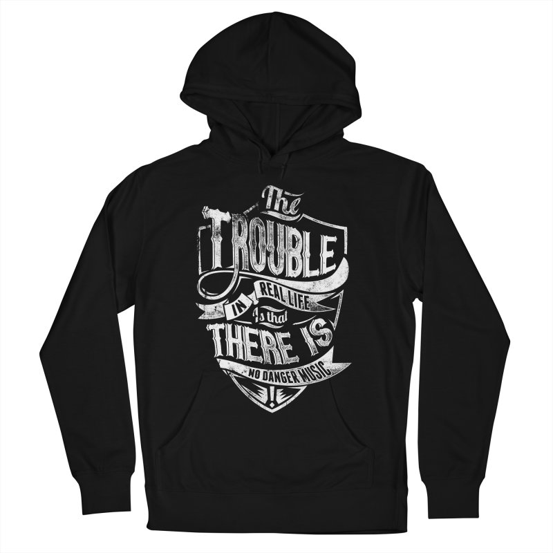 Danger Music Women's French Terry Pullover Hoody by Wicked Oddities