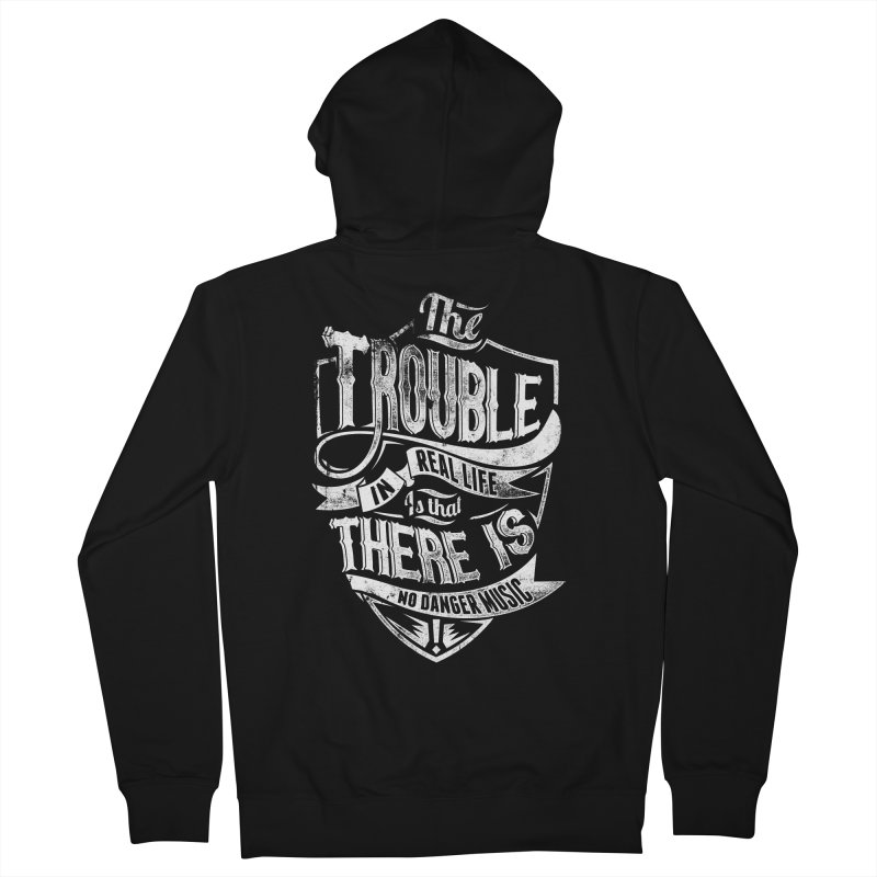Danger Music Men's French Terry Zip-Up Hoody by Wicked Oddities