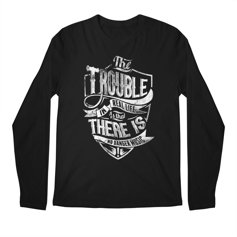 Danger Music Men's Regular Longsleeve T-Shirt by Wicked Oddities
