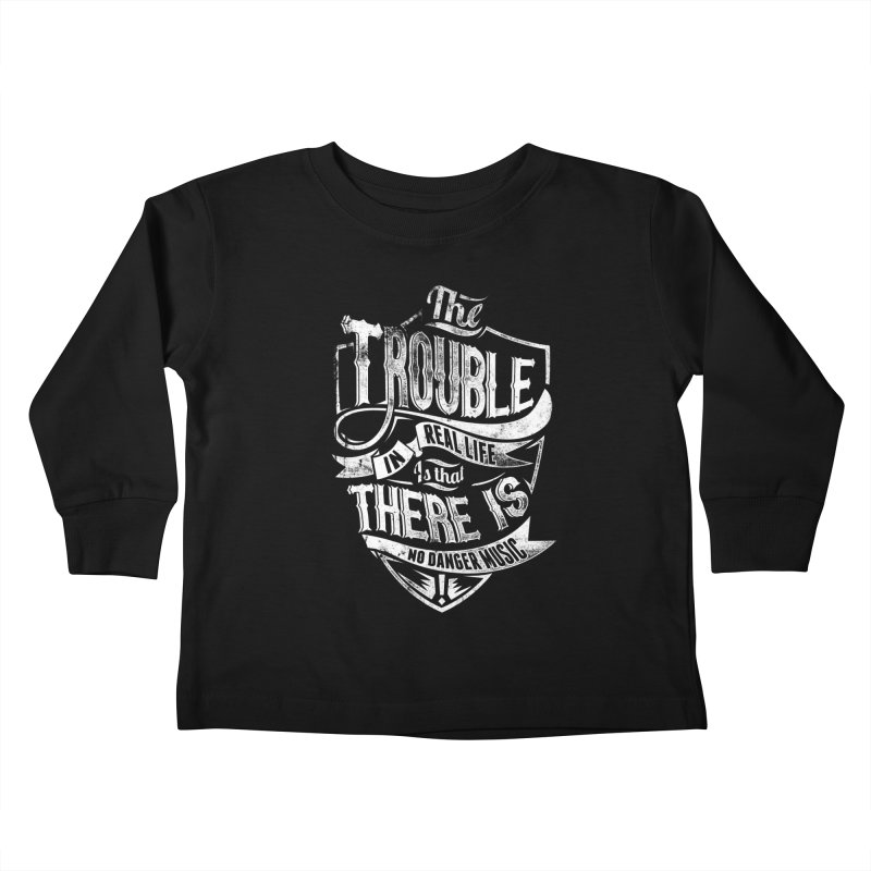 Danger Music Kids Toddler Longsleeve T-Shirt by Wicked Oddities