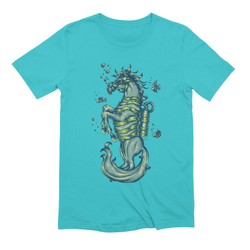 Horse Of The Sea Men's Extra Soft T-Shirt by Wicked Oddities