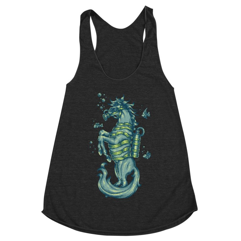 Horse Of The Sea Women's Racerback Triblend Tank by Wicked Oddities