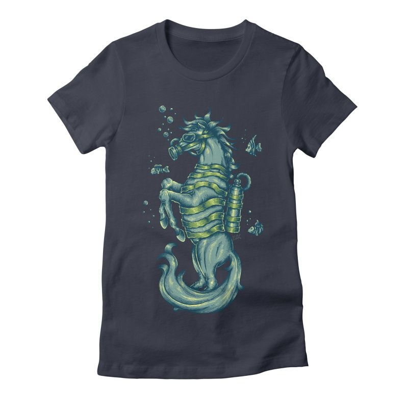 Horse Of The Sea Women's Fitted T-Shirt by Wicked Oddities
