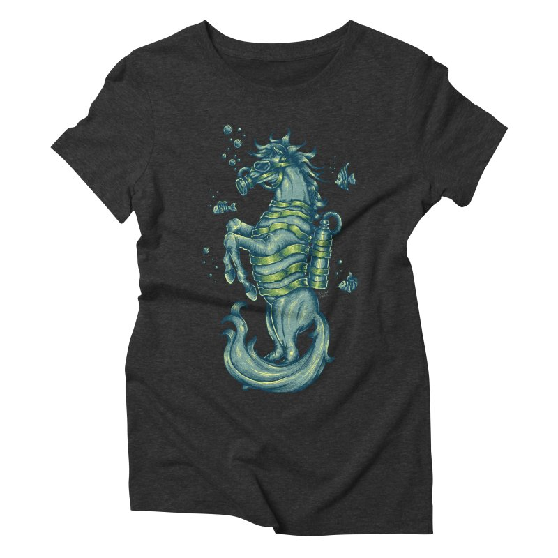 Horse Of The Sea Women's Triblend T-Shirt by Wicked Oddities