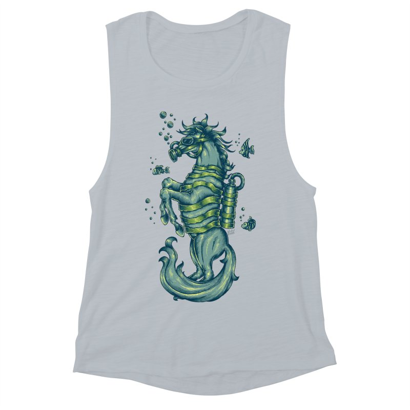 Horse Of The Sea Women's Muscle Tank by Wicked Oddities