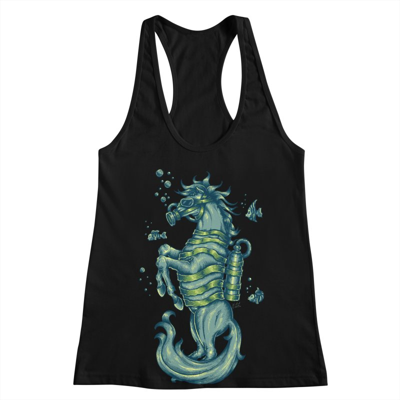 Horse Of The Sea Women's Racerback Tank by Wicked Oddities