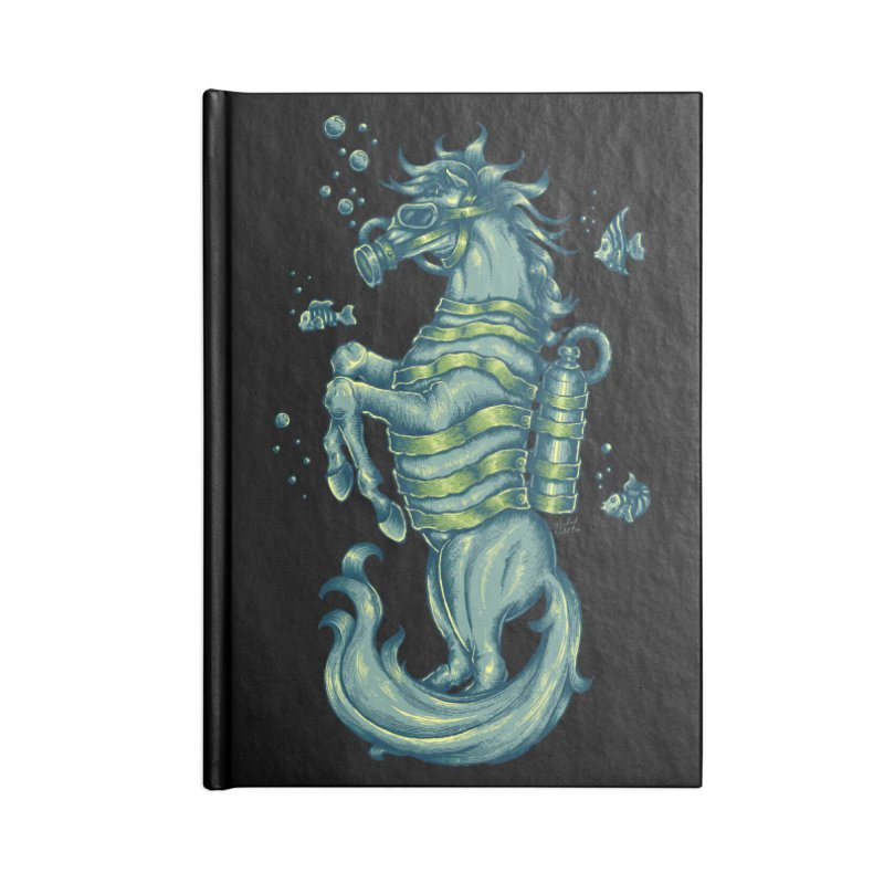 Horse Of The Sea Accessories Blank Journal Notebook by Wicked Oddities