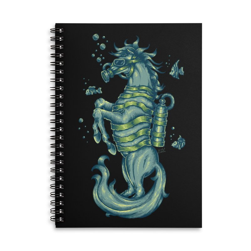 Horse Of The Sea Accessories Lined Spiral Notebook by Wicked Oddities