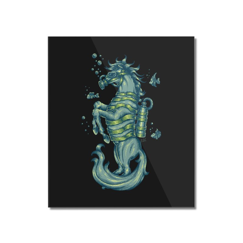 Horse Of The Sea Home Mounted Acrylic Print by Wicked Oddities