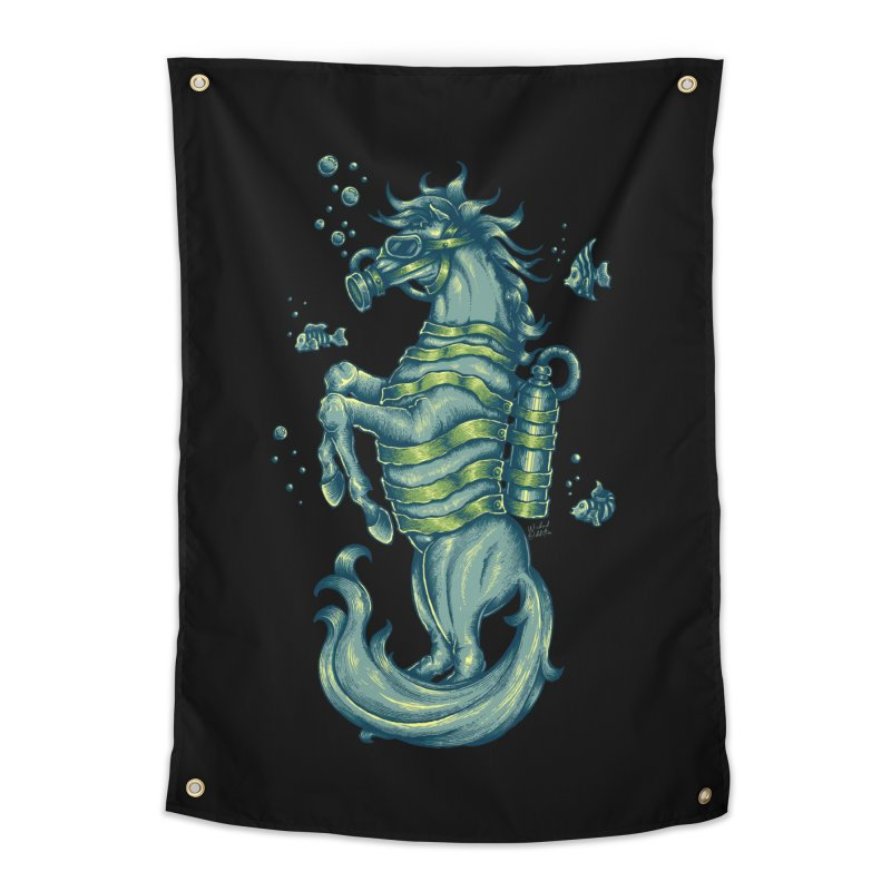 Horse Of The Sea Home Tapestry by Wicked Oddities