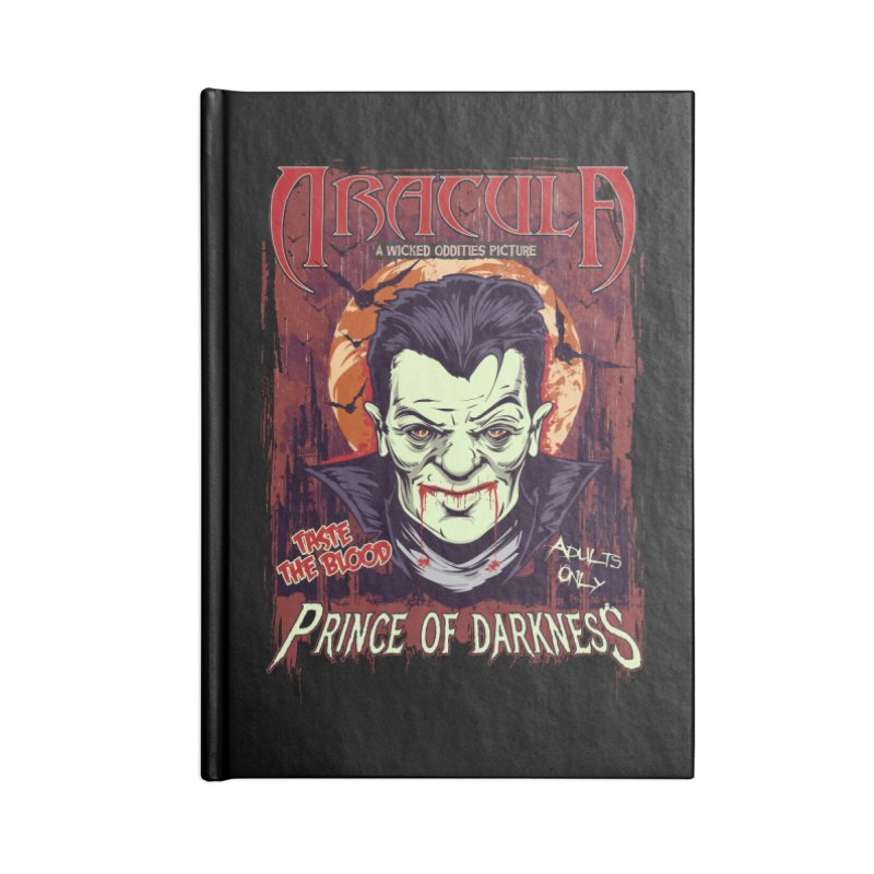Prince Of Darkness Accessories Blank Journal Notebook by Wicked Oddities