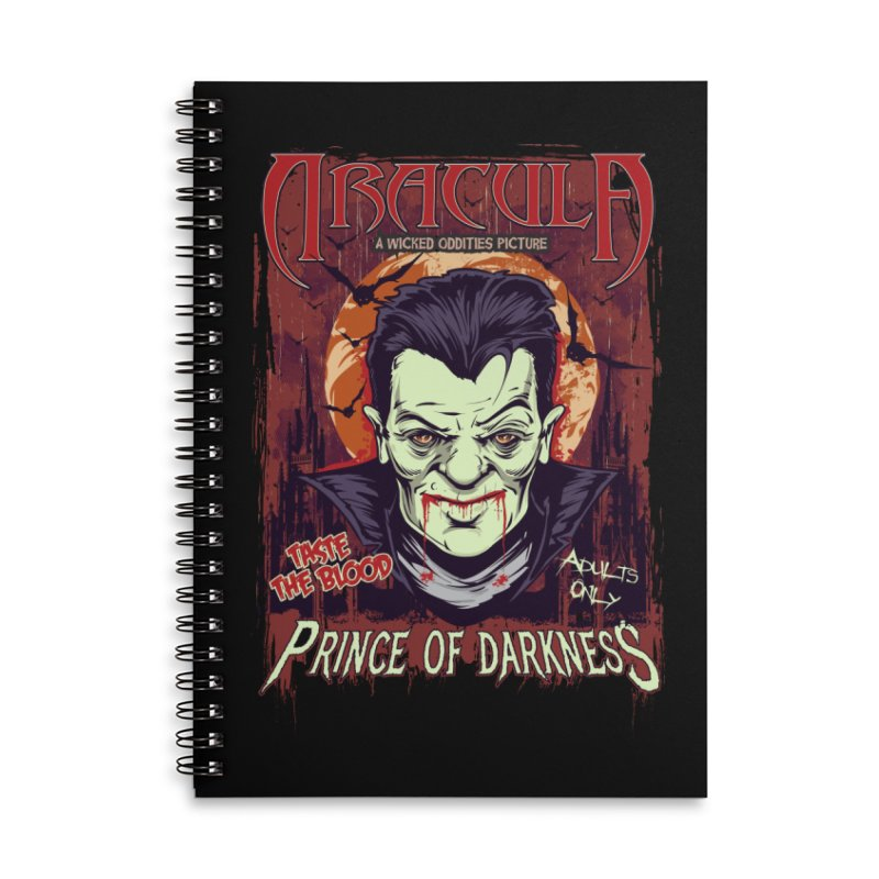 Prince Of Darkness Accessories Lined Spiral Notebook by Wicked Oddities