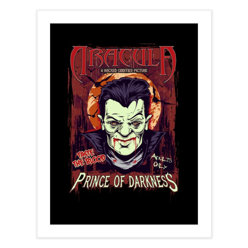 Prince Of Darkness Home Fine Art Print by Wicked Oddities