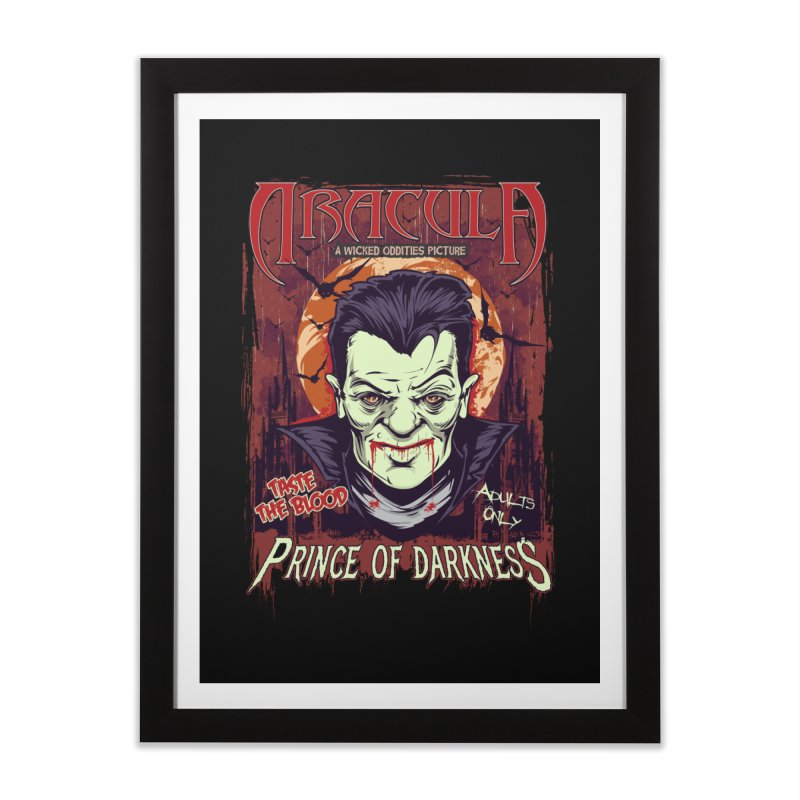 Prince Of Darkness Home Framed Fine Art Print by Wicked Oddities
