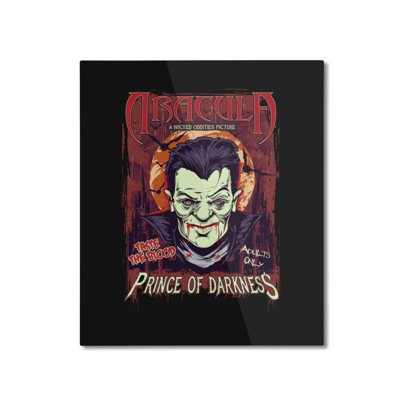 Prince Of Darkness Home Mounted Aluminum Print by Wicked Oddities