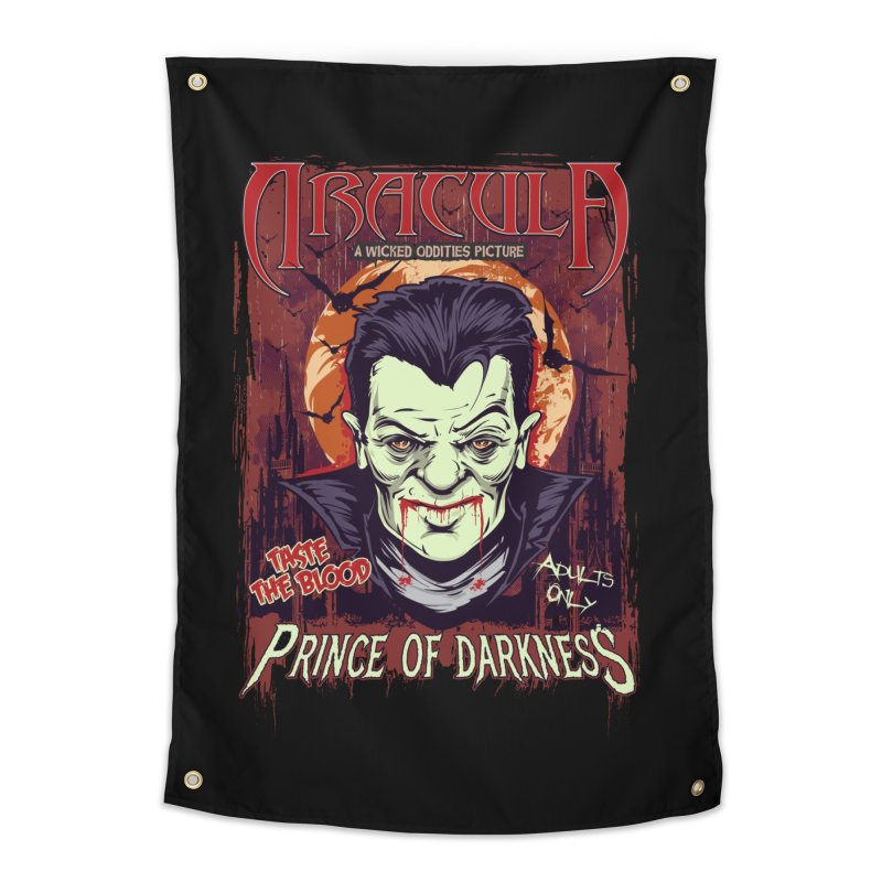 Prince Of Darkness Home Tapestry by Wicked Oddities