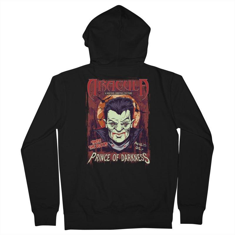 Prince Of Darkness Men's Zip-Up Hoody by Wicked Oddities